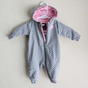 Nike Infant Zipper Hooded Onesie sz 3 Months
